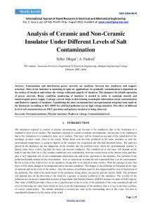 Analysis of Ceramic and Non-Ceramic Insulator Under Different Levels of Salt Contamination