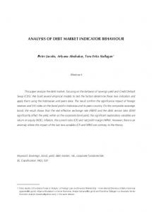 ANALYSIS OF DEBT MARKET INDICATOR BEHAVIOUR