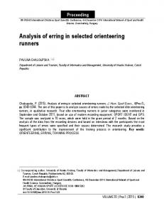 Analysis of erring in selected orienteering runners