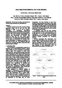 ANALYSIS OF INCREMENTAL HOT TUBE BENDING