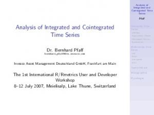 Analysis of Integrated and Cointegrated Time Series