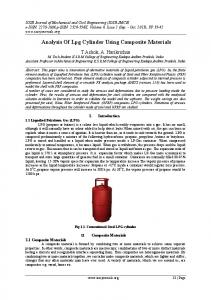 Analysis Of Lpg Cylinder Using Composite Materials