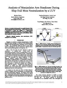 Analysis of Manipulator Arm Steadiness During Ship-Hull Mine Neutralization by a UUV