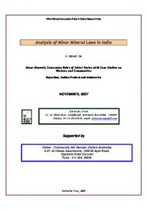 Analysis of Minor Mineral Laws in India