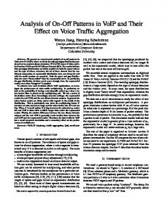 Analysis of On-Off Patterns in VoIP and Their Effect on Voice Traffic Aggregation