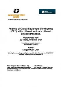 Analysis of Overall Equipment Effectiveness (OEE) within different sectors in different Swedish industries