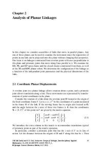 Analysis of Planar Linkages