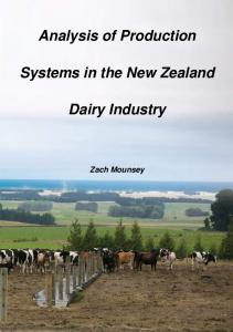 Analysis of Production. Systems in the New Zealand. Dairy Industry
