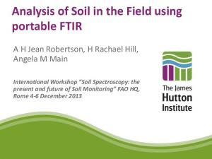 Analysis of Soil in the Field using portable FTIR