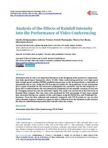 Analysis of the Effects of Rainfall Intensity into the Performance of Video Conferencing