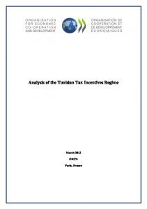Analysis of the Tunisian Tax Incentives Regime