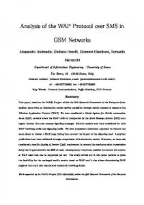 Analysis of the WAP Protocol over SMS in. GSM Networks