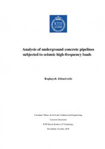 Analysis of underground concrete pipelines subjected to seismic high-frequency loads
