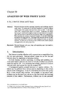 ANALYSIS OF WEB PROXY LOGS