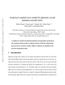 Analytical coupled-wave model for photonic crystal quantum cascade lasers