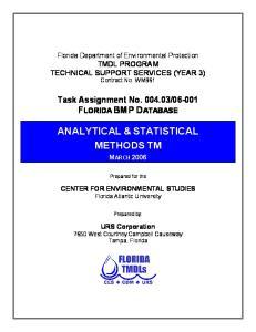ANALYTICAL & STATISTICAL METHODS TM