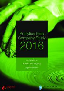 Analytics India Company Study 2016