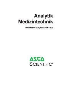 Analytik Medizintechnik MINIATUR-MAGNETVENTILE