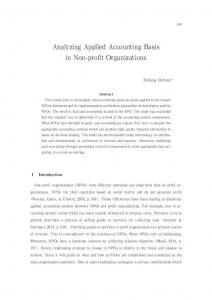 Analyzing Applied Accounting Basis in Non-profit Organizations