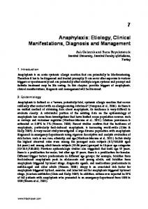 Anaphylaxis: Etiology, Clinical Manifestations, Diagnosis and Management