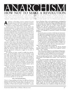 ANARCHISM: HOW NOT TO MAKE A REVOLUTION 47