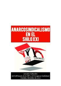 Anarcosindicalismo en el Siglo XXI