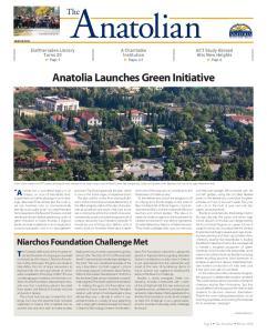 Anatolia Launches Green Initiative