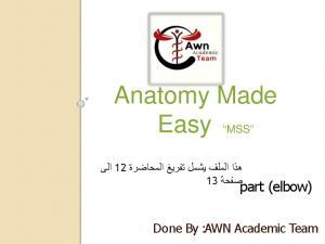 Anatomy Made Easy MSS