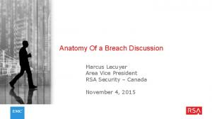Anatomy Of a Breach Discussion