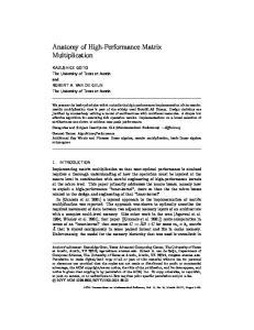 Anatomy of High-Performance Matrix Multiplication