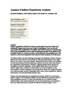Anatomy of Sodium Hypochlorite Accidents