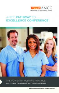 ANCC PATHWAY TO EXCELLENCE CONFERENCE