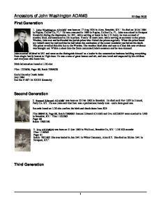 Ancestors of John Washington ADAMS 22 Sep 2003