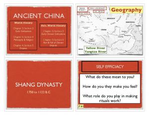 ANCIENT CHINA SHANG DYNASTY. Geography. What do these mean to you? How do you they make you feel? What role do you play in making rituals work?