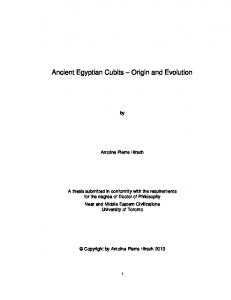 Ancient Egyptian Cubits Origin and Evolution