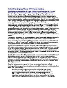 Ancient Irish Origins of Dorsey DNA Project Members
