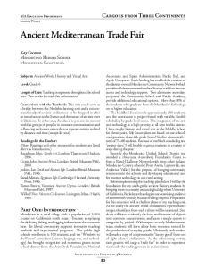 Ancient Mediterranean Trade Fair