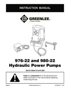 and Hydraulic Power Pumps