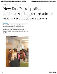 and revive neighborhoods