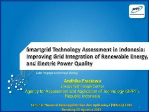 Andhika Prastawa Energy Technology Center Agency for Assessment and Application of Technology (BPPT), Republic Indonesia
