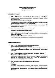 ANDREA MILENA LAFAURIE MOLINA (+57) Ext. 3436