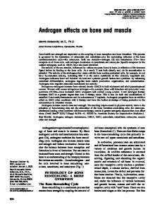 Androgen effects on bone and muscle