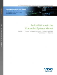 Android & Linux in the Embedded Systems Market
