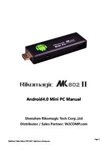 Android4.0 Mini PC Manual