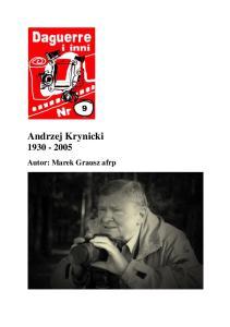 Andrzej Krynicki Autor: Marek Grausz afrp