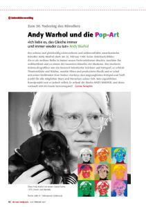 Andy Warhol und die Pop-Art