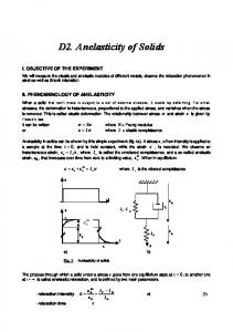 Anelasticity of solids