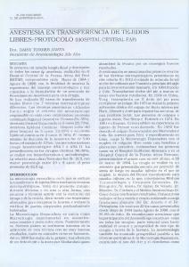 ANESTESIA EN TRANSFERENCIA DE TEJIDOS