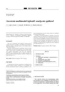 Anestesia multimodal infantil: analgesia epidural