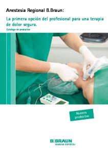 Anestesia Regional B.Braun: